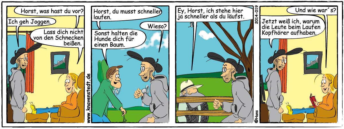 Sport, Comic, Landleben, Comicstrip, Bilder, Knavenstedt, Dorf, Knave, Schelm, Cartoon, Hans