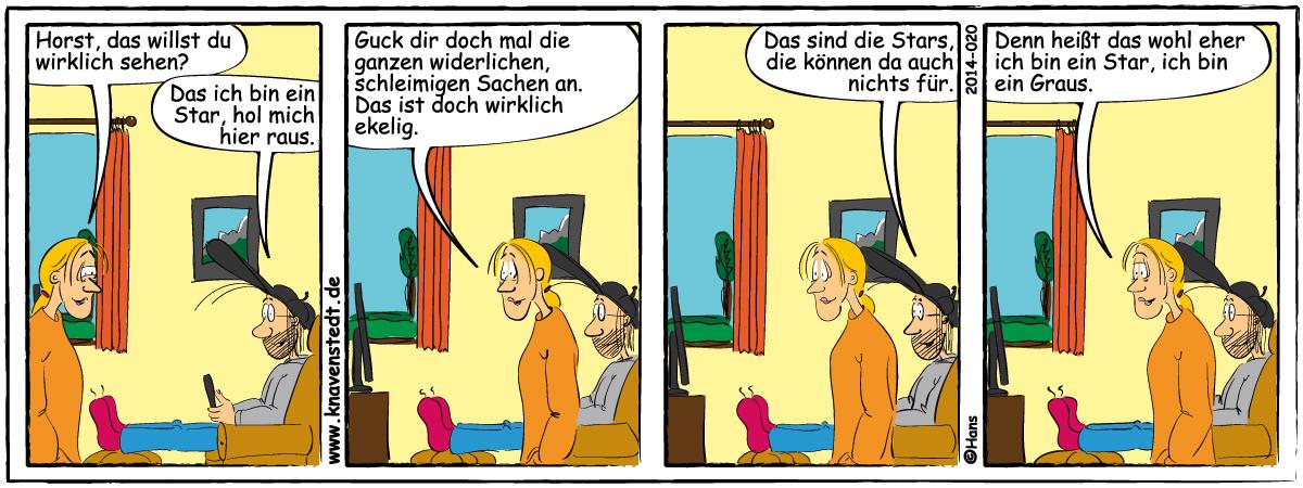 Comic, Landleben, Comicstrip, Bilder, Fernsehen, Neues aus Knavenstedt, Dorf, Knave, Schelm