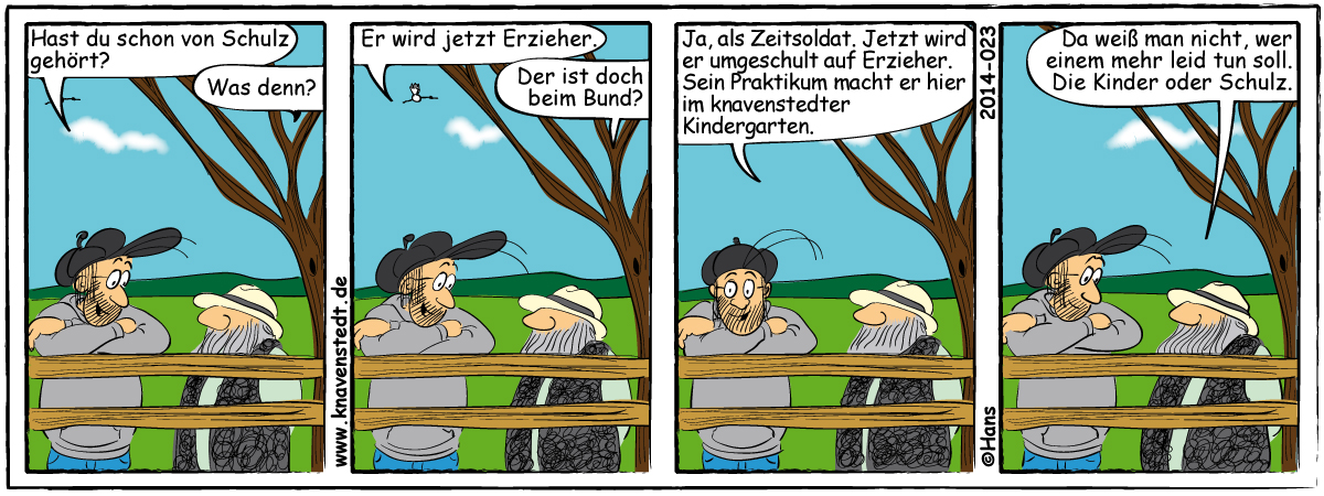 Arbeit, Arbeitswelt, Comic, Landleben, Comicstrip, Bilder, Knavenstedt, Dorf, Knave, Schelm, Cartoon, Hans