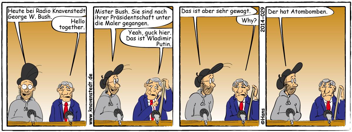 Politik, Kunst, Comic, Landleben, Comicstrip, Bilder, Knavenstedt, Dorf, Knave, Schelm, Cartoon, Hans