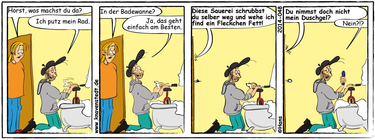 Comic, Landleben, Comicstrip, Bilder, Mann, Frau, Neues aus Knavenstedt, Dorf, Knave, Schelm