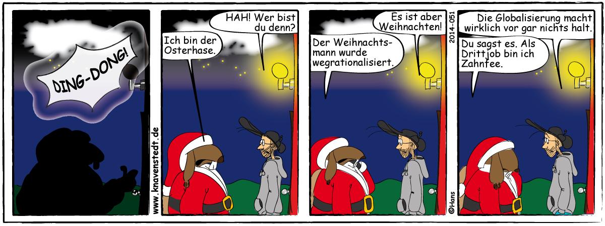 Weihnachten, Landleben, Comicstrip, Bilder, Knavenstedt, Dorf, Knave, Schelm, Cartoon, Hans, Comic
