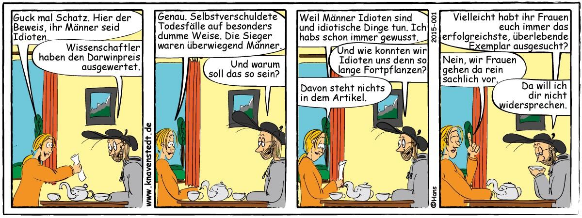 Mann-Frau, Comic, Landleben, Comicstrip, Bilder, Mann, Frau, Neues aus Knavenstedt, Dorf, Knave, Schelm