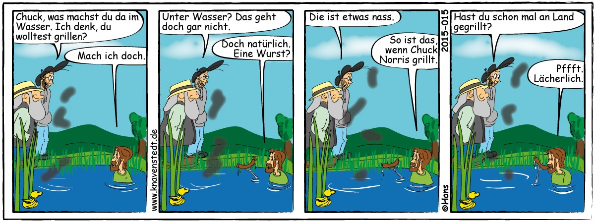 Chuck Norris, Comic, Landleben, Comicstrip, Bilder, Knavenstedt, Dorf, Knave, Schelm, Cartoon, Hans