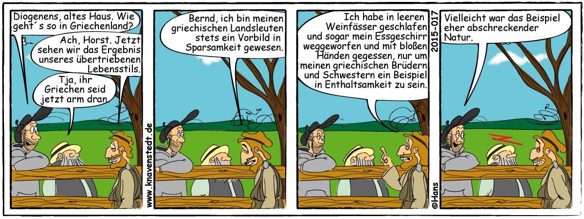 Politik, Kunst, Comic, Landleben, Comicstrip, Bilder, Knavenstedt, Dorf, Knave, Schelm, Cartoon, Hans, Griechenland